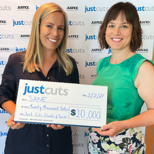 Just Cuts community raises over $20,000 for SANE Australia