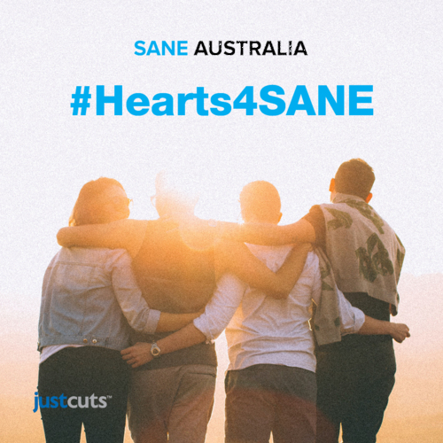 Media Release:  Just Cuts launches #Hearts4SANE fundraising campaign for SANE Australia