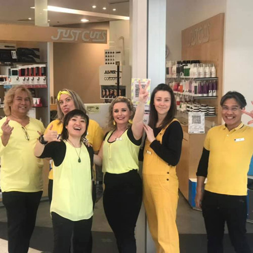Just Cuts Franchise Owners turn teams yellow for R U OK Day