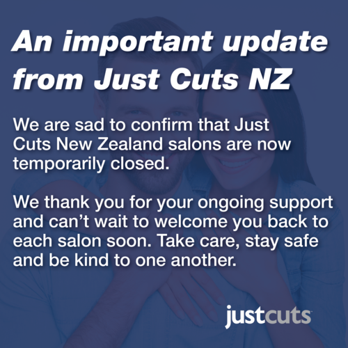 An important update from Just Cuts New Zealand